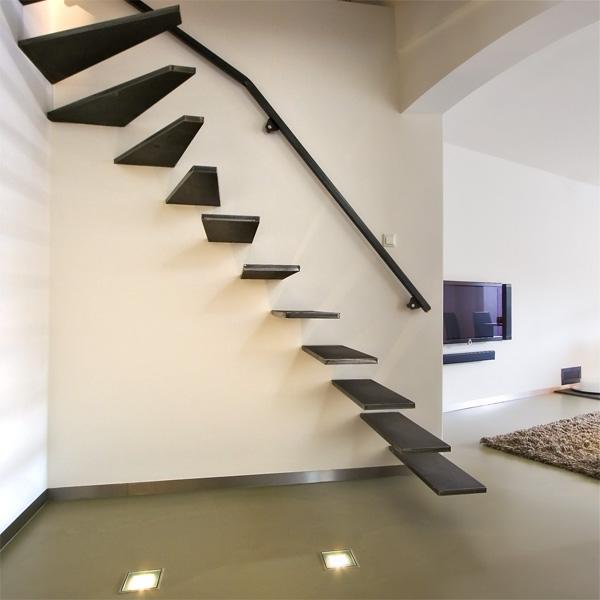 Zwevende metalen design trappen opdrachten in beeld - Moderne metalen trap ...